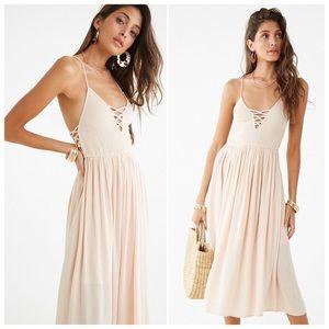 NWT Blush Woven Side Midi Dress
